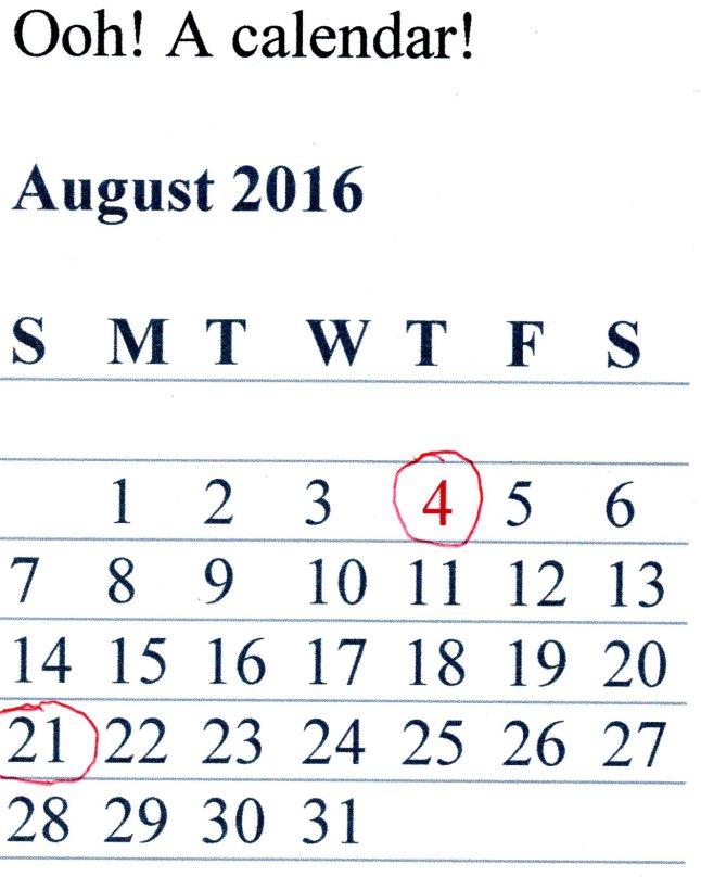 2016 Ooh! Calendar!